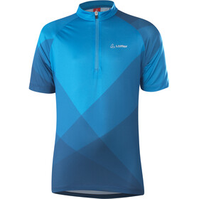 Löffler Half-Zip Bike Jersey Kids, blue lake